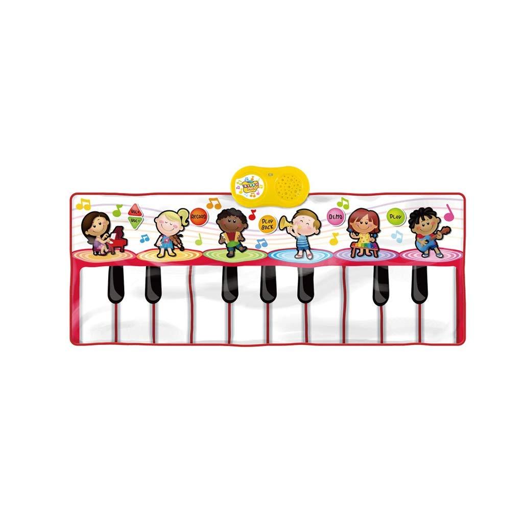 HXGL-Keyboard Children's Keyboard Playmat Piano Play Mat Kids Electronic Music Playmat Colorful Dance Mat-17 Keys (Color : Red) by HXGL-Keyboard (Image #1)