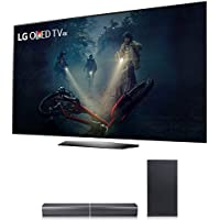 LG B7A Series 55 OLED 4K HDR Smart TV 2017 Model (OLED55B7A) with LG SJ7 Sound Bar Flex 320W Wireless Soundbar System