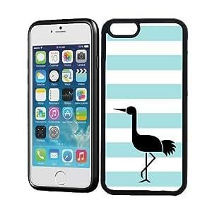 Love Flamingos Aqua Stripes Cute Hipster iPhone 6 Case - Fits iPhone 6
