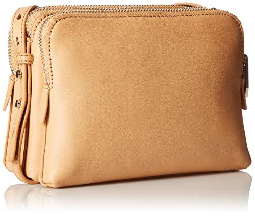 RANDALL Convertible Nappa Triple LOEFFLER Leather Bag Body Zip Cross Natural dPgCxqwx