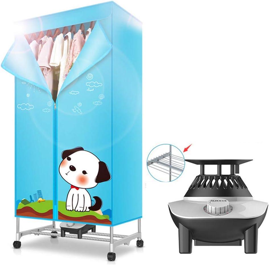 Secadora 900w móvil Doble bebé de cerámica Ropa de Almacenamiento desinfección Profesional máquina de esterilización de la Ropa Interior con Calentador, Temporizador automático y Rueda móvil