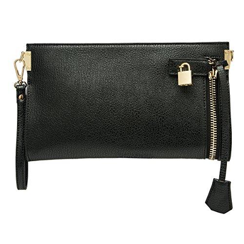 melie-bianco-misha-distressed-metallic-vegan-leather-slim-wristlet-crossbody-bag