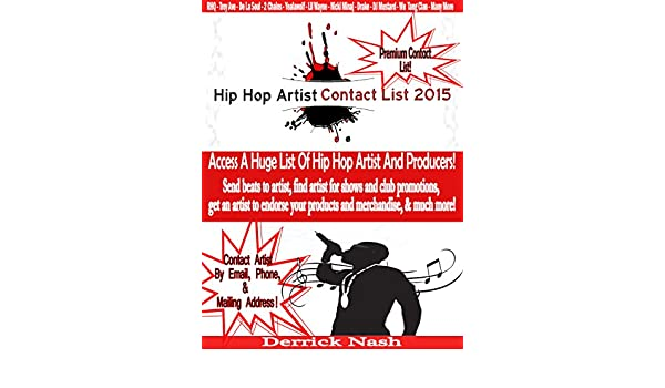 Hip Hop Artist Contact List 2015: Contact Hip Hop Artist & Producers