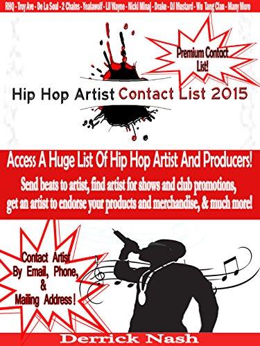 Hip Hop Artist Contact List 2015: Contact Hip Hop Artist & Producers