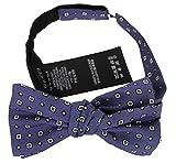 Gucci Men's Habutai Print Blue Silk BowTie 369800 4265
