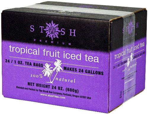 Tropical Fruit Tea - Stash Tea Tropical Fruit Black Tea, 1 Ounce Iced Tea Brew Bags (Pack of 24)