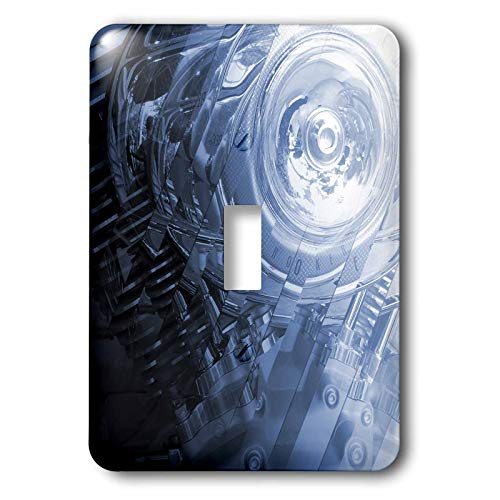 3dRose Perkins Designs Photography - Motorcycle Engine - enjoy this stylized close up photograph of a motorcycle engine - Light Switch Covers - single toggle switch (lsp_49042_1) ()