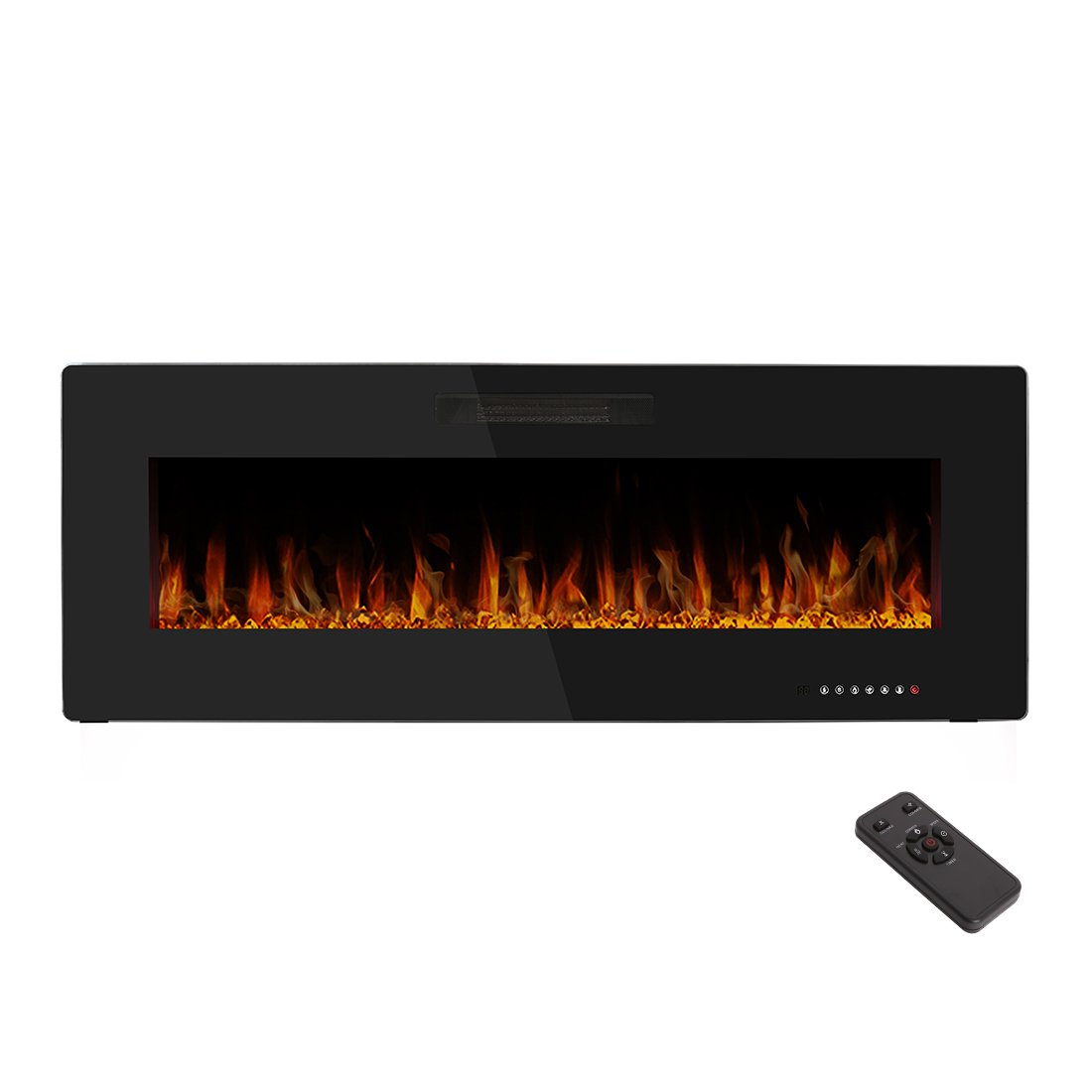 R.W.FLAME 50'' Electric Fireplace,Wall Mounted & In-wall Recessed Electric Heater,Remote Control,750-1500W,1 Years Warranty