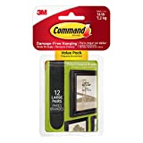 Command Picture Hanging Strips Value Pack, Large, Black, 12-Pairs (17206BLK-12ES)