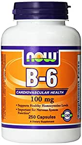 NOW Foods Vitamin B-6, 250 Capsules / 100mg
