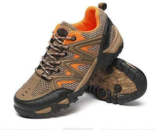 FuweiEncore Sportschuhe atmungsaktiv Abriebfest Anti-Rutsch-Outdoor-Schuhe Angelausflug (Farbe   Khaki, Größe   39)