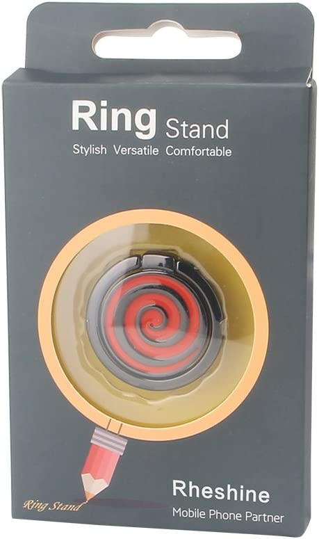 Samsung Phone Ring Stand 360/° Rotation and 180/° Flip Stylish Phone Ring Grip Finger Ring Compatible with Phone Donut-Red RHESHINE Phone Ring Holder Nokia Smartphones iPhone