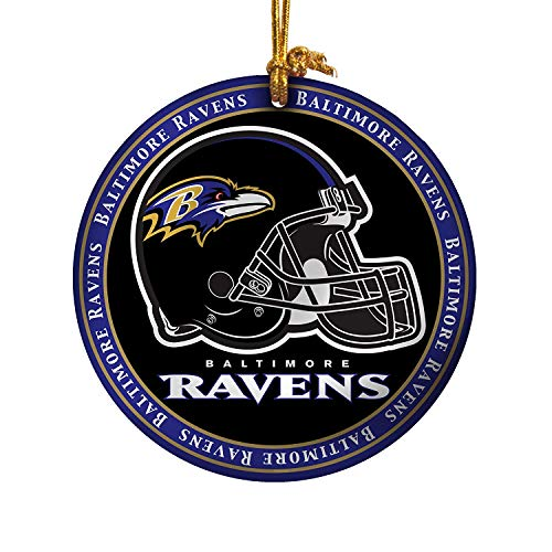 NFL Baltimore Ravens Ceramic Plate Ornament