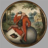 The high quality polyster Canvas of oil painting 'Pieter Brueghel II,A Flemish Proverb,1564-1636' ,size: 10x10 inch / 25x25 cm ,this Beautiful Art Decorative Canvas Prints is fit for Kids Room artwork and Home decor and Gifts