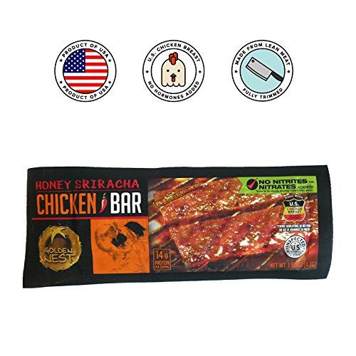 (Golden Nest Chicken Jerky Bar, Gluten Free, Healthy Meat From Gourmet USA, Non-GMO Honey Glazed (1.5 oz.) (Honey Sriracha, Pack of 5))