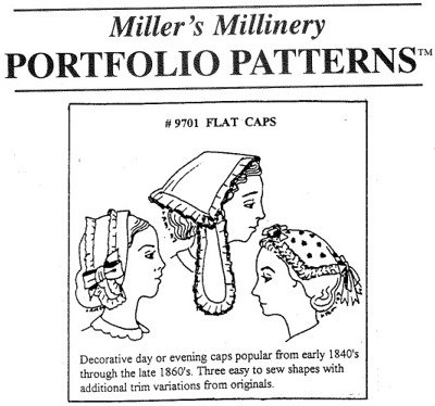 Victorian Hat History | Bonnets, Hats, Caps 1830-1890s 1840s to 1860s Flat Caps Pattern $15.95 AT vintagedancer.com