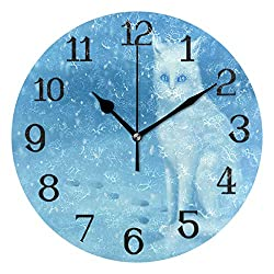 Ernest Congreve Wall Clock Love Fantasy ElvesSilent Non Ticking Decorative Square Digital Clocks Quartz Battery Operated Square Easy to Read for Home/Office/School Clock 8 inch