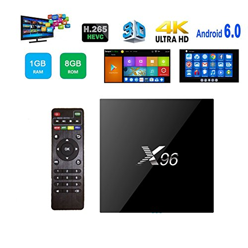Supplylink X96 Android 6.0 4K Smart TV Box, 1G/8G Amlogic S905X Quad Core , Wifi HDMI DLNA