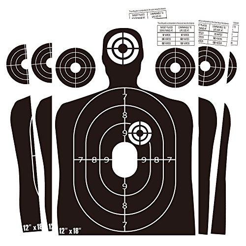 "Target Shooting Paper Targets, Splatterburst Torso 12""X18"" T"