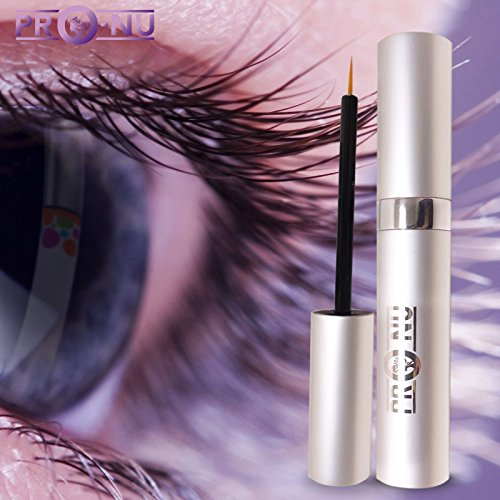 [Pro-Nu New Eyelash Growth Serum 5ml - Made in USA - Eyelash Enhancer for Thicker, Fuller and Longer Eyelashes and Brows.] (Growth Enhancer)