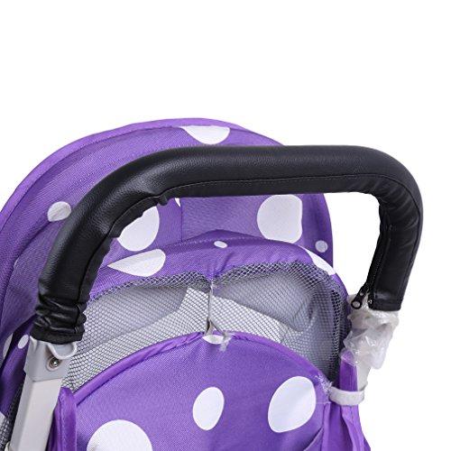 HENGSONG Kinderwagen Buggy Zubehör Griffbezug Handgriffe Kinderwagengriffbezug Griff (Schwarz)