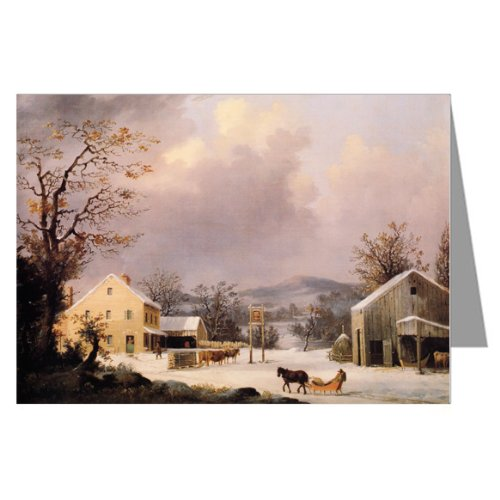Currier and Ives Christmas Holiday Country Inn Greeting Card set ()