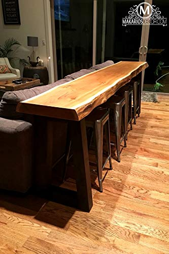 Charmant Wood Slab, Behind The Sofa Table, Natural Edge Buffet Table, Bar Top,  Counter Top, Long Shelf, Rustic Table, Rustic Counter, Rustic Bar, Live  Edge Sofa ...