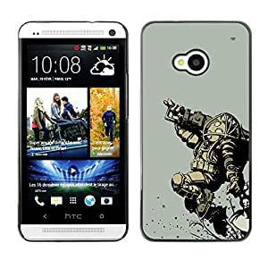 Ihec Tech Bi0Shock Big Daddy - Gaming / Funda Case back Cover guard / for HTC One M7