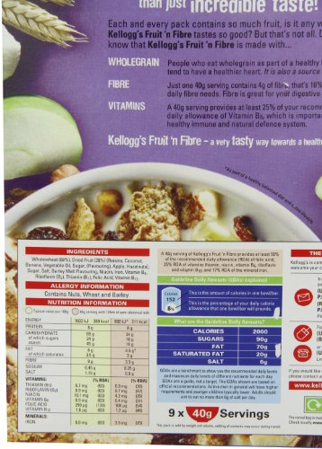 Kellogg'S 1 Fruit And Fibre, 375G by Kellogg's (Image #1)