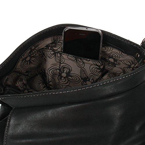 Bag noir Sac Cognac Noir femme à pour gris à porter Street l'épaule rUSRwqr