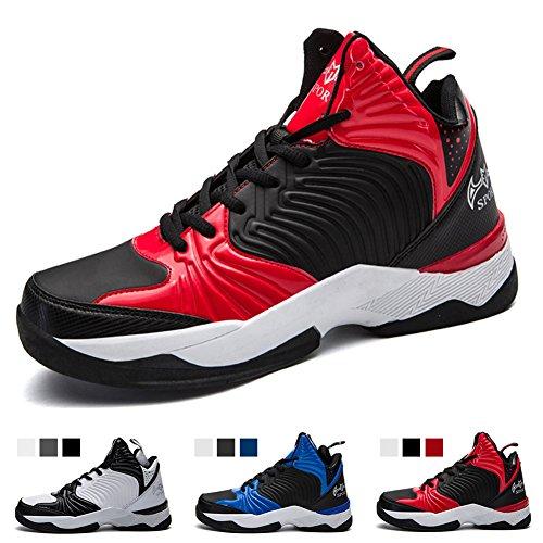 ヒット郵便局中でバスケットシューズ ジュニア Basketball Shoes ライトウエイト バッシュ ハイカット バスケットボールシューズ 滑り止め スポーツシューズ 耐久性のある バスケ シューズ 快適で通気性のある スポーツ ランニングシューズ メンズ スニーカー