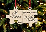 Personalized Christmas Ornament- 1st Christmas as Mr. & Mrs. Puzzle Piece