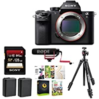 Sony Alpha a7RII Digital Camera (Body Only) with Rode Video Mic GO Microphone & 128GB Accessory Bundle
