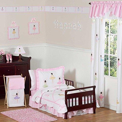 - Sweet Jojo Designs 5-Piece Ballet Dancer Ballerina Toddler Girl Bedding Set