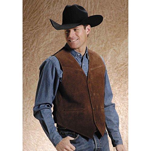- Roper Men's Suede Buckle Tie Vest Brown XXXX-Large