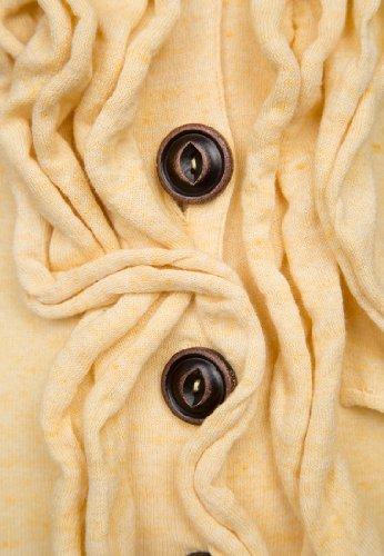 khujo Damen Pullover HOOK Apricot 2Rz4tJ2Vvd