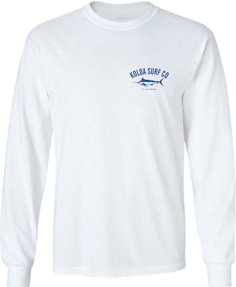 Joe's USA SHIRT メンズ B06Y6LMYD8 Tall Large LT (41-43)|White With Blue Marlin Logo White With Blue Marlin Logo Tall Large LT (41-43)