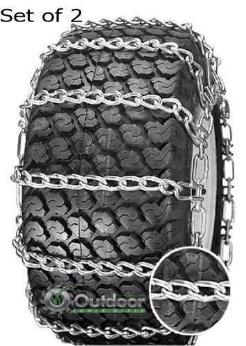 OPD tire chains (set of 2) 23x10.50-12 23x10.50-12 2-link with Tighteners by Outdoor Power Deals