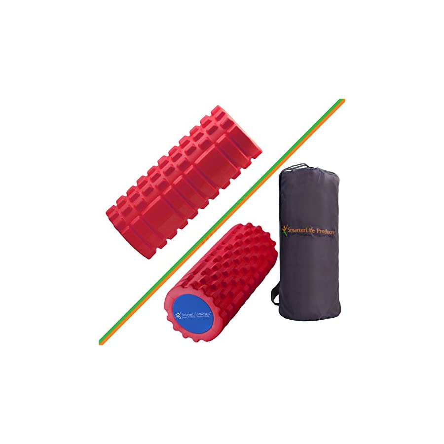 Foam Roller Massager for Trigger Point Therapy by SmarterLife Massage Rollers for Sore Muscles, Pre and Post Workout, Exercise, Recovery, Yoga, Pilates, Cycling and Running