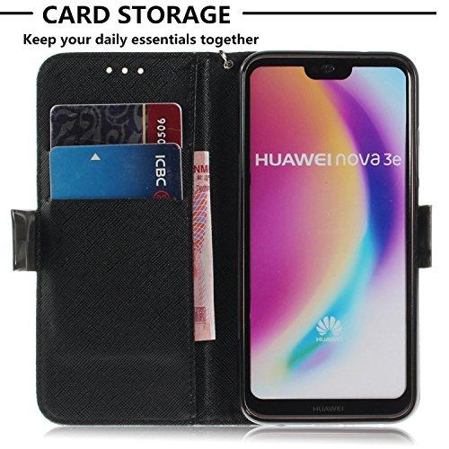 P20 T Chreey Etui Effet Coque Huawei de Motif Portefeuille Lite 3D Cas nnxE67
