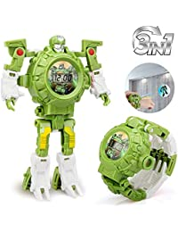 Transform Toys Robot Watch 3 in 1 Projection Kids Digital...