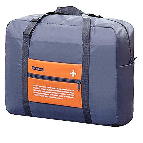 WitHome Duffel Bag, Travel Lightweight Gym Bag Men Women Portable Waterproof Foldable Bag Large CapacityStorage Luggage Bag (ORANGE) (Orange Small Rolling Luggage)