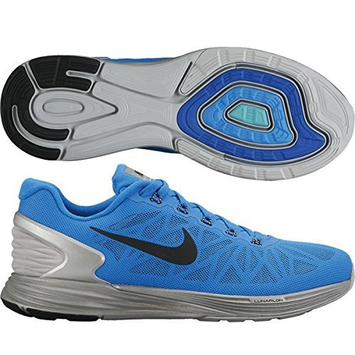 Nike Men's Lunarglide 6 Flash, PHOTO BLUE/BLACK-REFLECT SILVER, 10.5 M US