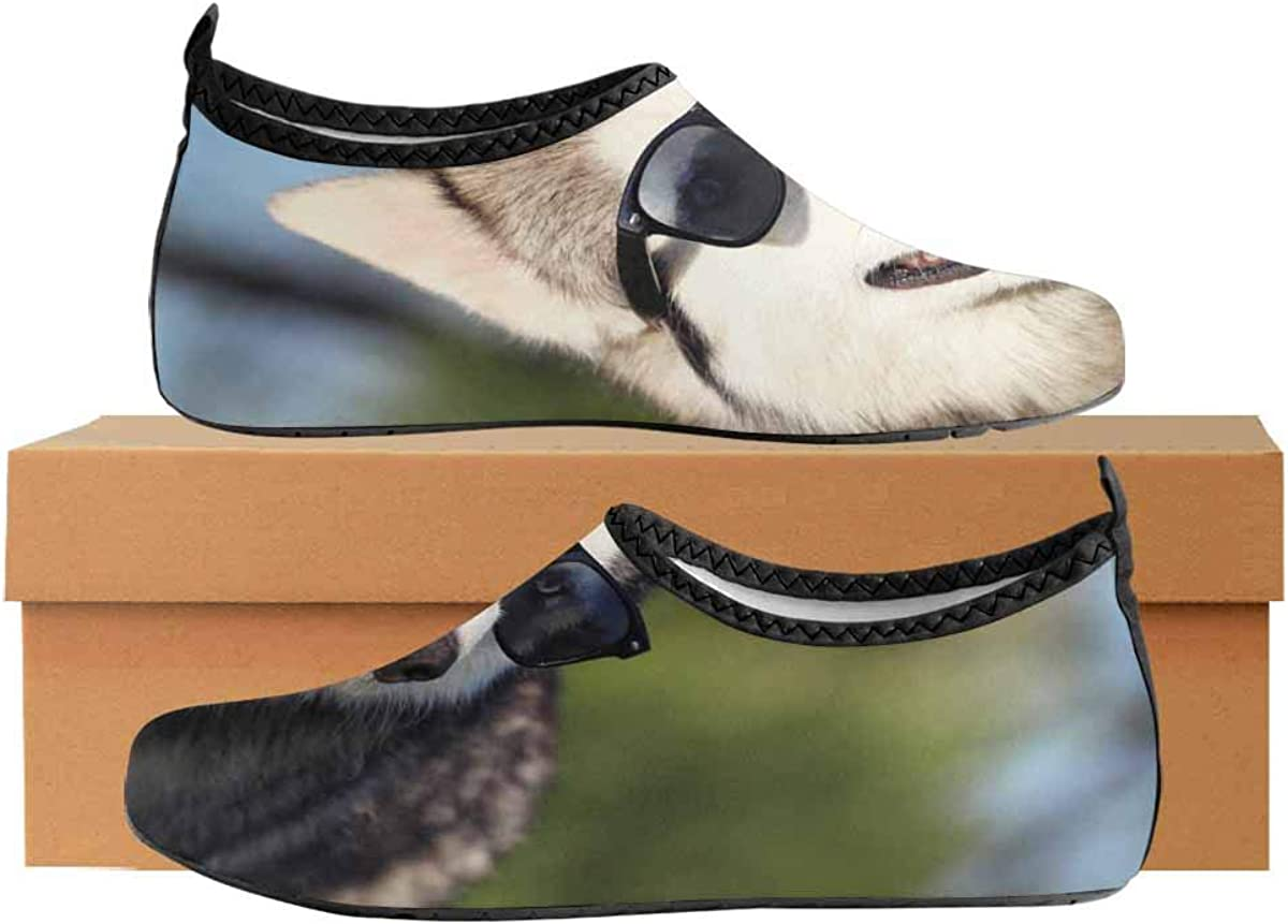 INTERESTPRINT Mens Quick Dry Barefoot Aqua Shoes Bird Feathers Barefoot Swim Shoes Quick Dry Beach Pool Socks