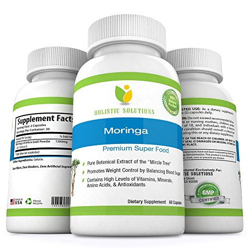 Moringa Premium Super Food One Month Supply 60 Capsules