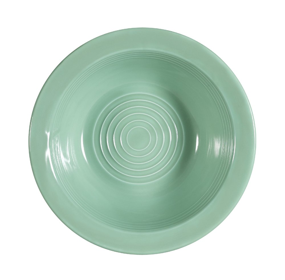 CAC China TG-10G Tango 6-5/8-Inch 13-Ounce Green Porcelain Grapefruit Bowl, Box of 36