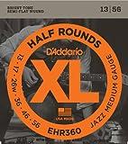 D'Addario EHR360 Half Round Electric Guitar Strings, Jazz Medium, 13-56