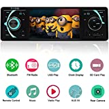 YALASO 4.1 Inch Single Din Car Stereo MP5 Player with Bluetooth FM Radio Car Audio 1080P Video,Black