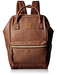 Japan anello Backpack Synthetic Leather Mouthpiece Backpack Mini Brown AT-B1212
