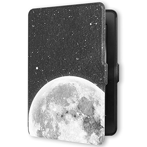 Young me martShell Case for Kindle Paperwhite with Hand Strap - The Thinnest and Lightest Leather Cover Auto Sleep / Wake for All-New Amazon Kindle Paperwhite (Space)